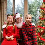 Santa and girl and boy